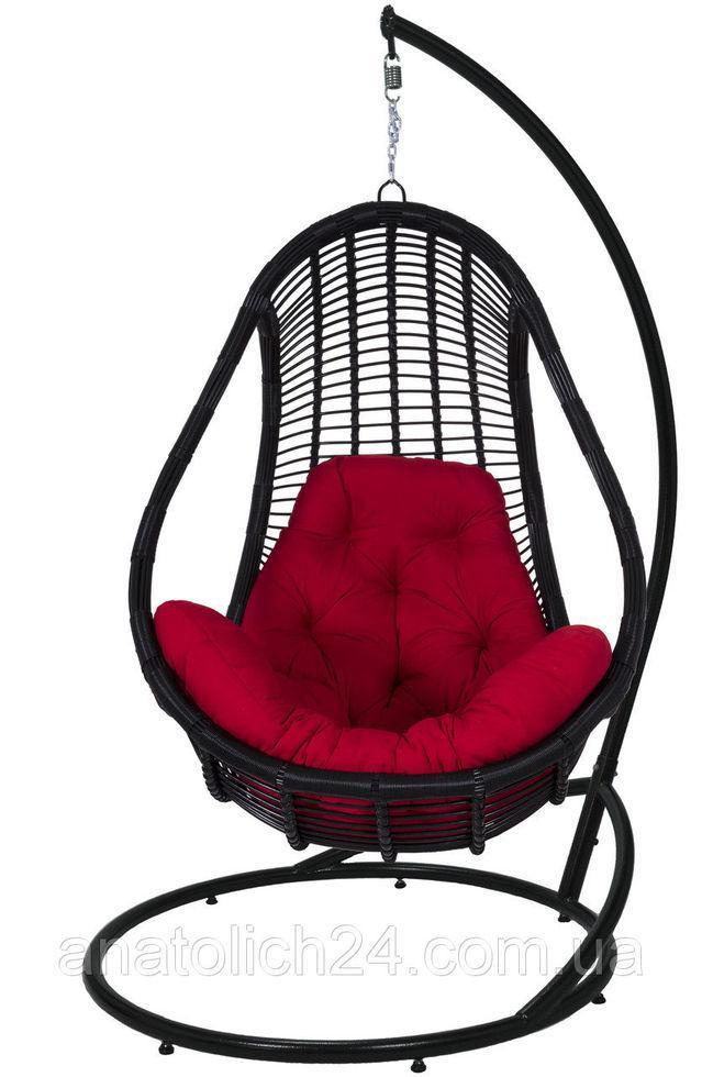 Подвесное кресло  Komfort Черный-Красная