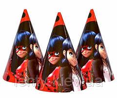 Колпачки, колпаки праздничные карнавальные маленькие 16х10 см. (10 шт./уп.) - Lady Bug, Разные цвета