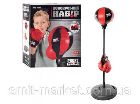 Боксерский набор MS 0333  груша ,на стойке, фото 2