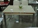 Стол стеклянный раскладной обеденный ТВ17 ультрабелый 110\170*75*75, фото 6