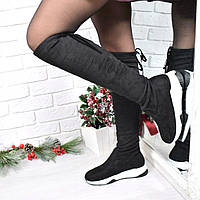 Сапоги женские ботфорты Sporty черные, женская обувь