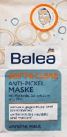 Противовоспалительная маска для лица Balea SOFT & CLEAR Anti Pickel Maske, 2st. х 8 ml.
