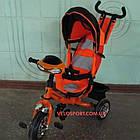 Детский трехколесный велосипед Crosser One T-1 оранжевый, фото 2