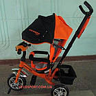Детский трехколесный велосипед Crosser One T-1 оранжевый, фото 3