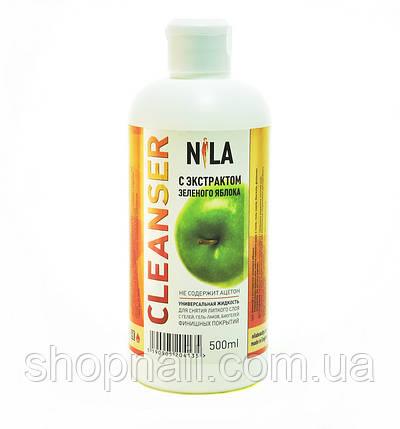 Nila Cleanser - средство для снятия липкого слоя (зеленое яблоко), 500 ml, фото 2