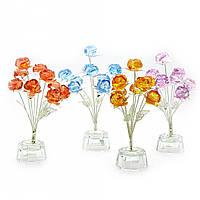 Цветы розы (9шт.) хрусталь(7х7х15 см)(8387)