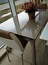 Стол стеклянный раскладной обеденный ТВ20 ультрабелый 120\200*80*75, фото 3