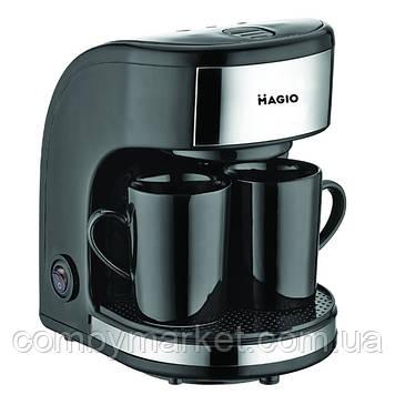 Кофеварка Magio МG-348, 450 Вт, 2 чашки