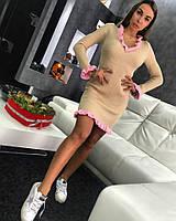 "Бежевое платье TM DORATTI ""MONKEY"". Хлопок с акрилом"