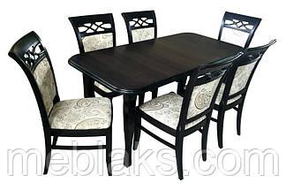 """Стол для кухни деревянный раскладной """"Премьер"""" 160(+40)х90х76 см  Fusion Furniture, фото 3"""