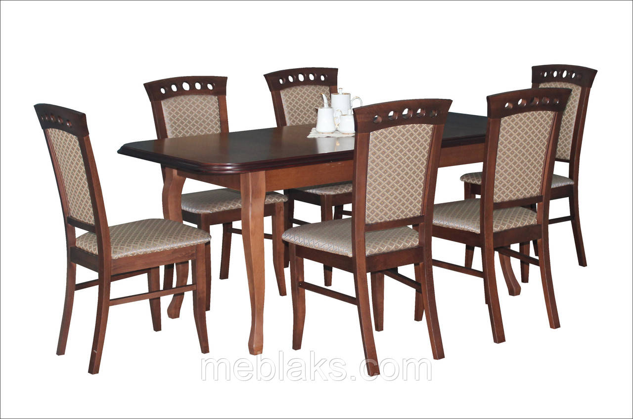 """Стол для кухни деревянный раскладной """"Премьер"""" 160(+40)х90х76 см  Fusion Furniture"""