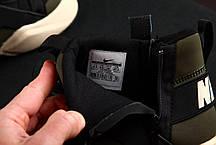 Мужские кроссовки Nike Huarache Winter черно-зеленые топ реплика, фото 3