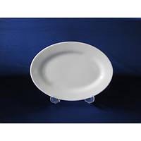 Блюдо овальное Белая гладь 10