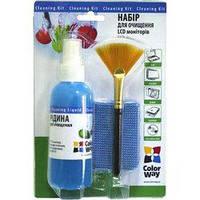 Универсальный чистящий набор набір 3в1 Спрей, пензлик, мікрофіб. ColorWay (CW-1031)