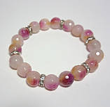 Браслет из Аметрина, натуральный камень, цвет розовый и его оттенки, тм Satori \ Sb - 0012, фото 2