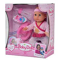 Кукла Пупс функциональный YL 1704 Е с аксессуарами, 2 вида, аналог my little Baby Born.