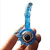 Эрекционное кольцо двойное  на пенис Stay Hard 3 с вибратором для клитора и фиксатором мошонки, фото 2