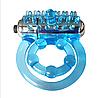 Эрекционное кольцо двойное  на пенис Stay Hard 3 с вибратором для клитора и фиксатором мошонки, фото 3