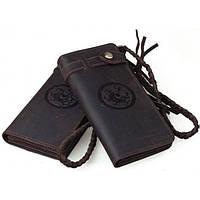 Мужской кожаный клатч Tiding Bag t33775 темно-коричневый