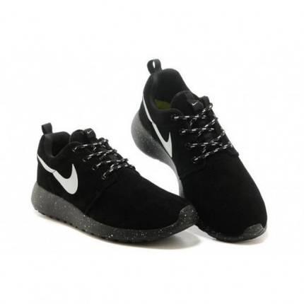 Кроссовки мужские NIKE Roshe Run Black Черные, фото 2