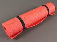 Коврик для фитнеса и йоги Аэробика 5 красный, размер 140x 50 см., толщина 5мм