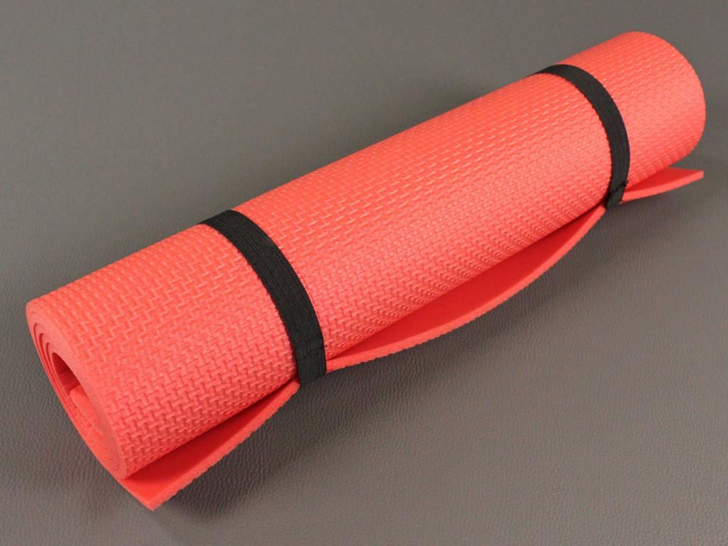 0a132cdce62d Коврик для фитнеса и йоги Аэробика 5 красный, размер 140x 50 см., толщина