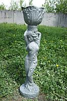 Мавка (серая) мраморная скульптура для сада и дачи