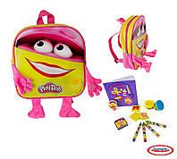 Набор для творчества PLAY-DOH - Рюкзак Пинки (штемпели, восковые карандаши, масса для лепки, аксес.)