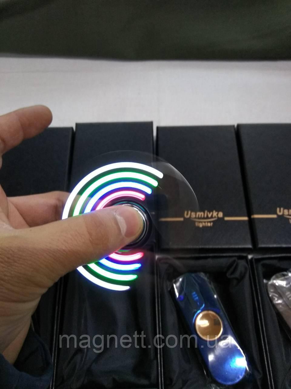 USB зажигалка - спиннер Spinner Usmivka Разные Цвета