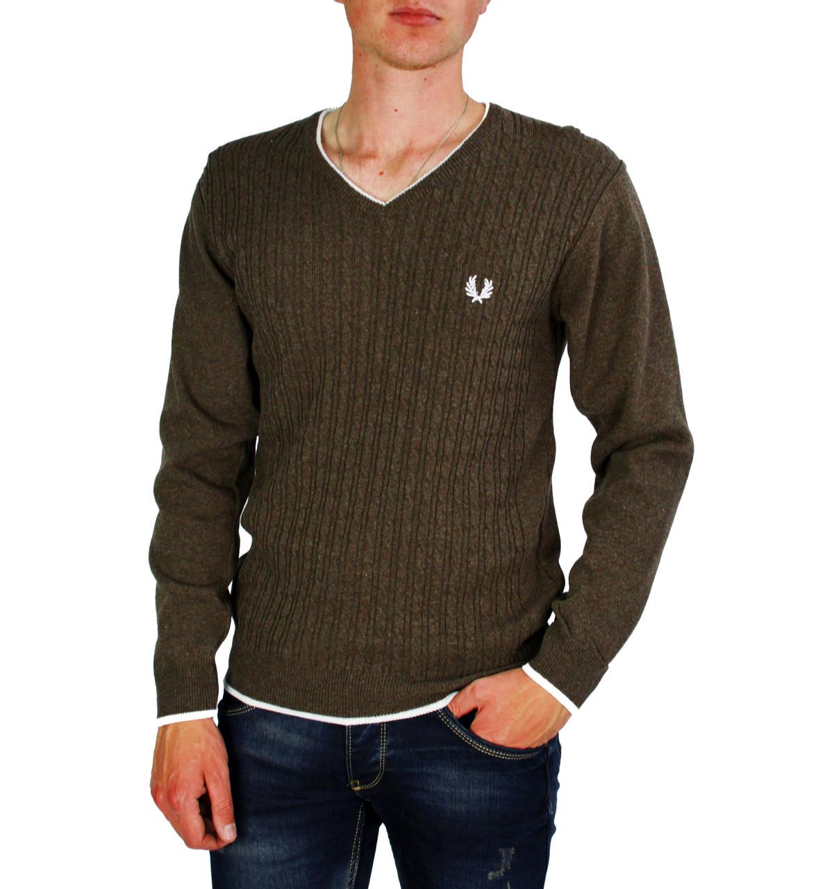 Коричневый свитер мужской, джемпер GAVINO
