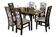 """Стол для кухни деревянный раскладной """"Комфорт"""" 120(+40+40)х80х75 см"""