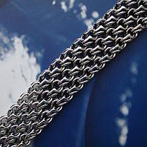 Серебряный мужской браслет, 210мм, 33 грамма, плетение тройной Бисмарк, фото 3