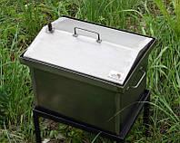 Коптильня черный метал   Крышка домиком 400x300x310мм