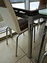 Стол стеклянный раскладной обеденный ТВ20 ультрабелый 120\200*80*75, фото 4