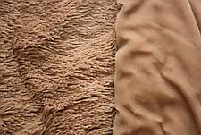 Капучино меховое плед-покрывало с длинным ворсом 150*200, фото 2