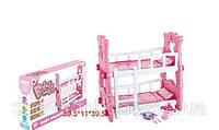 Кроватка для кукол 2 этажа (Baby Born), детский голос, посудка