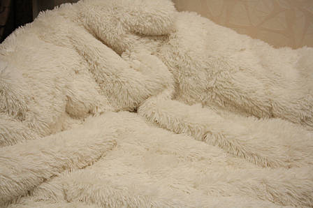 Молоко меховое плед-покрывало с длинным ворсом 150*200, фото 2