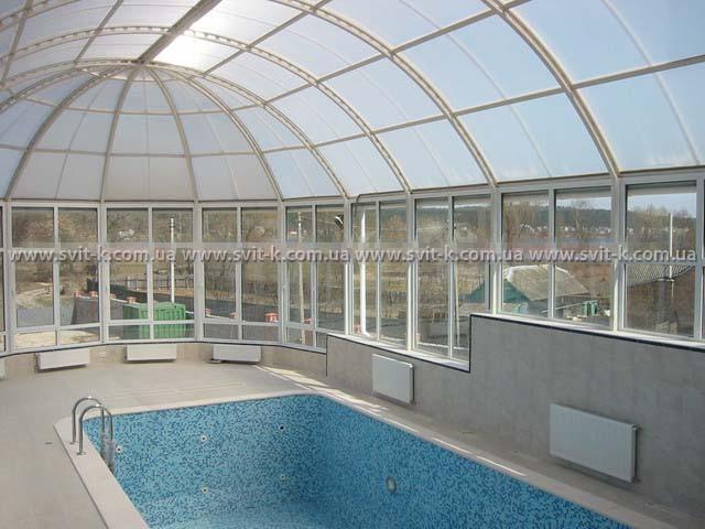 ПМП «Интергейтс» - купол бассейна из сотового поликарбоната Полигаль