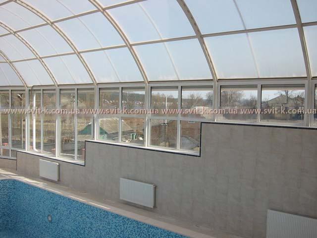 ПМП «Интергейтс» павильон для бассейна из сотового поликарбоната Polygal
