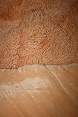 Персик меховое плед-покрывало с длинным ворсом 150*200, фото 2