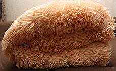 Персик меховое плед-покрывало с длинным ворсом 150*200, фото 3