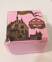 "Салфетка ""Premier"" 100 листов розовый 10 шт"