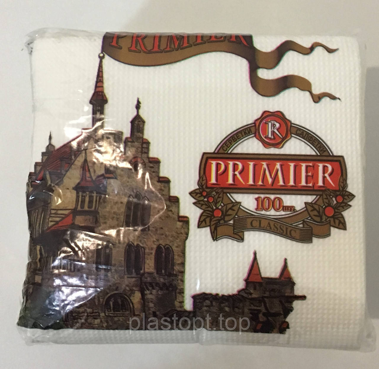 "Салфетка ""Premier"" 100 листов белый 10 шт"