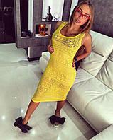Длинное желтое платье ТМ Doratti