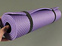 Коврик для фитнеса и йоги Аэробика 5 фиолетовый, размер  140x 50 см., толщина 5мм