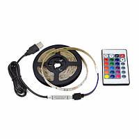 Светодиодная лента комплект SMD 2835 RGB 5 м + блок питания + пульт