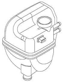 Бачок расширительный (напорный) радиатора охлаждения двигателя с датчиком без крышки Metalcaucho