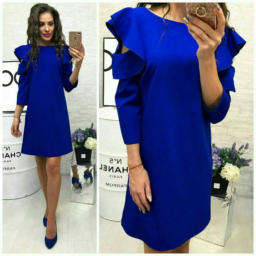 Платье, модель 783/2, цвет - электрик