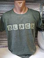 Футболка мужская /варенка-марлевка/ Black (цвет бутылка) Турция оптом со склада