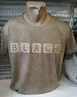 Футболка мужская /варенка-марлевка/ Black (цвет кирпич) Турция оптом со склада